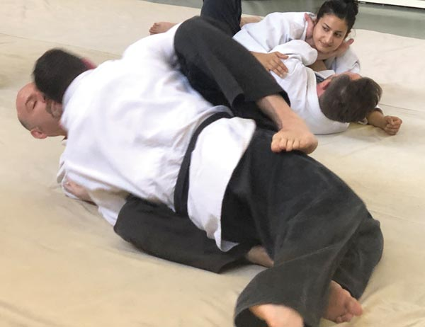 Practicing Groundwork Jiujitsu