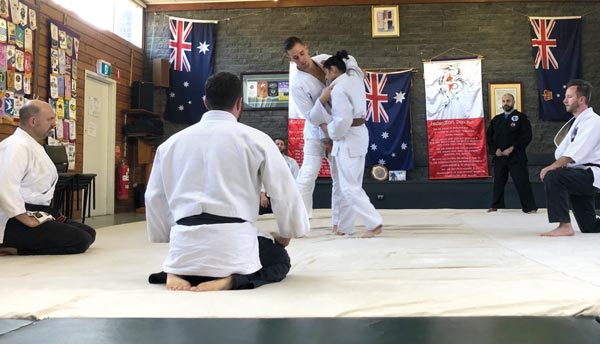 Demonstrating a JiuJitsu Throw