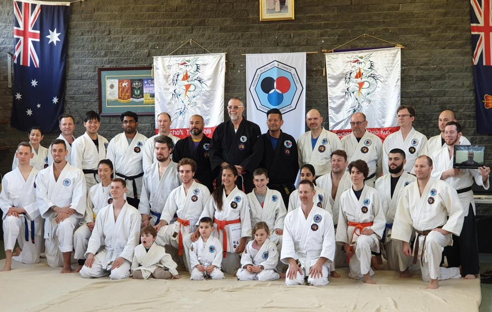 Academy students after presentation of gradings